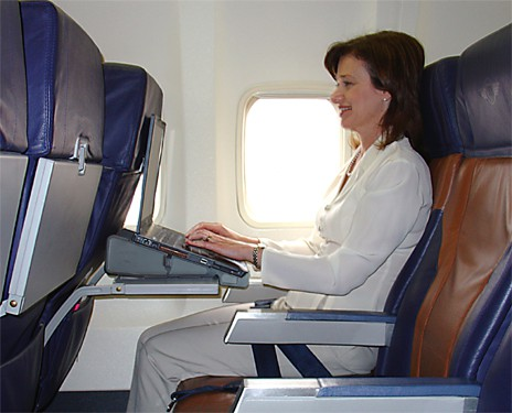 Laptop airplane recline