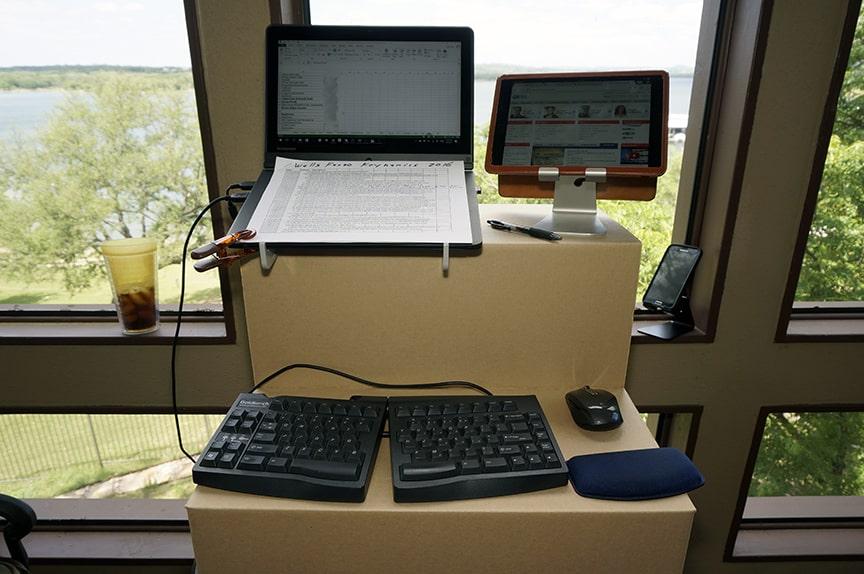 laptop stand adjustable height desk