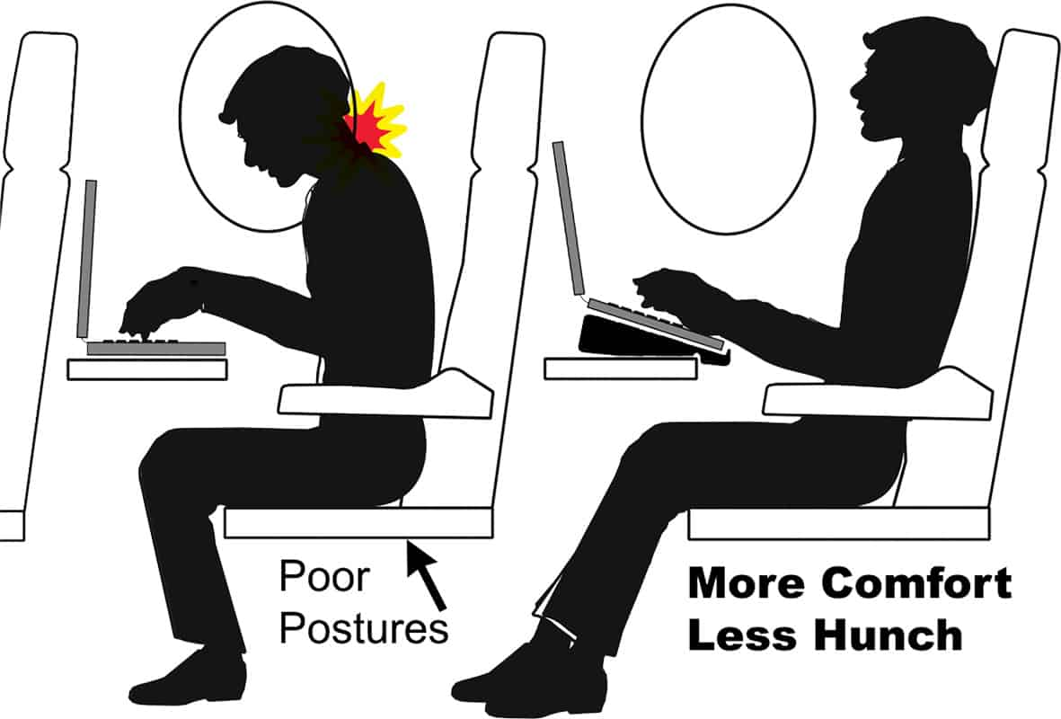 laptop on airplane